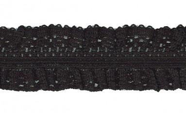 ELASTIC LACE WAVE FRILL DOUBLE