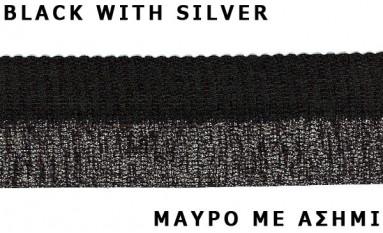 ELASTIC BELT BLACK WITH METAL YARN
